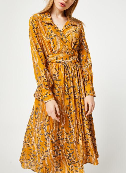 Vêtements Yuka ROBE ROMY Jaune vue détail/paire