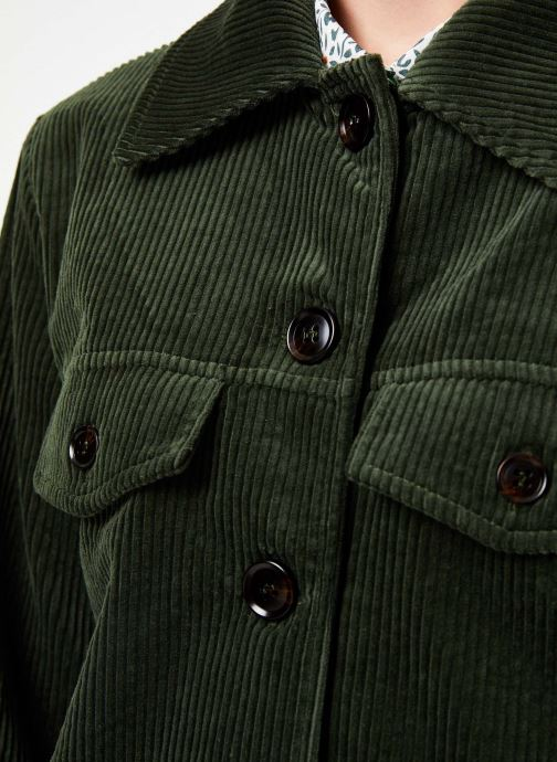 Vêtements Yuka MANTEAU MAEVA Vert vue face