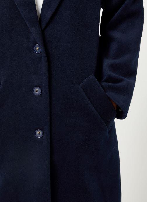 Vêtements Yuka MANTEAU MAITE Bleu vue face