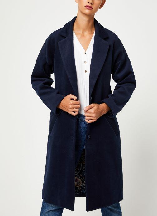 Vêtements Yuka MANTEAU MAITE Bleu vue droite