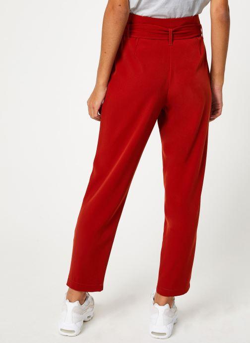 Vêtements Yuka PANTALON PANDORE Rouge vue portées chaussures