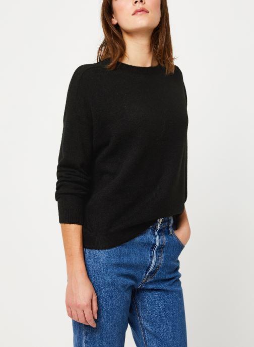 Vêtements Yuka PULL MANEL Noir vue droite