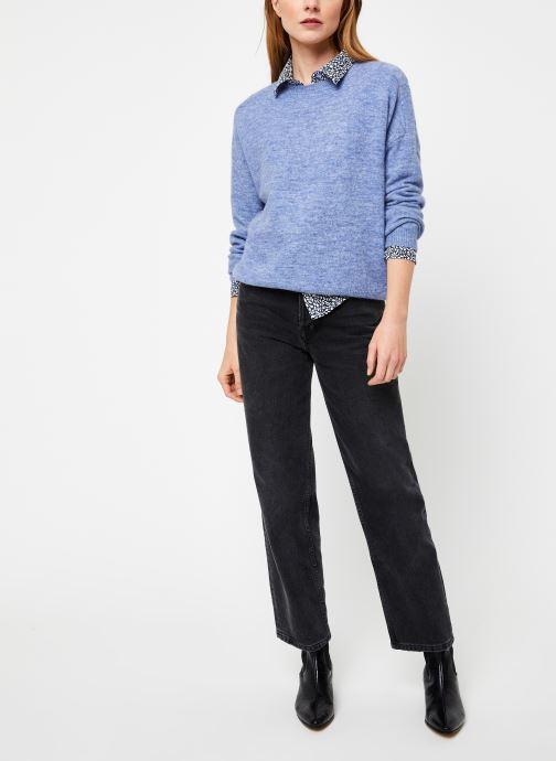 Vêtements Yuka PULL MANEL Bleu vue bas / vue portée sac
