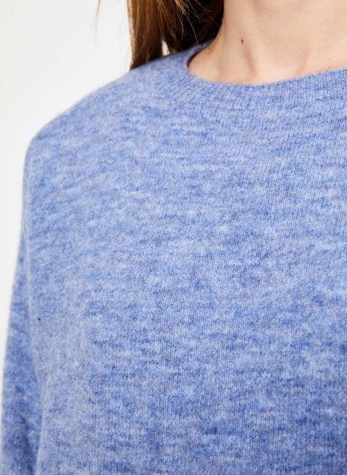 Vêtements Yuka PULL MANEL Bleu vue face