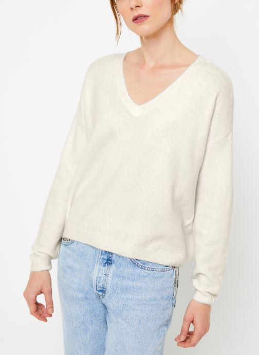 Vêtements Yuka PULL V MATIAS Blanc vue droite