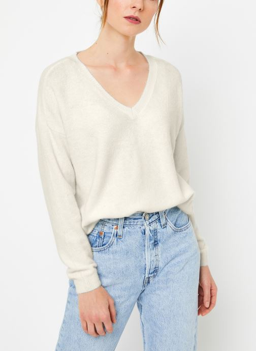 Vêtements Yuka PULL V MATIAS Blanc vue détail/paire