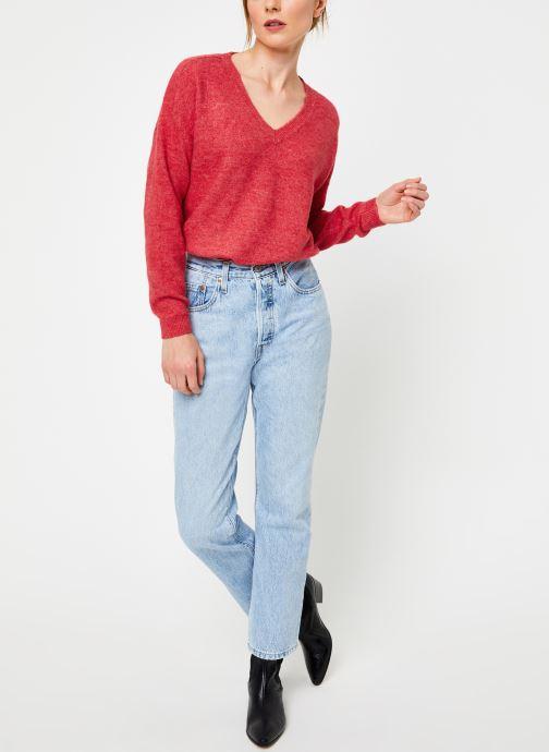 Vêtements Yuka PULL V MATIAS Rouge vue bas / vue portée sac