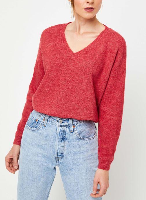Vêtements Yuka PULL V MATIAS Rouge vue détail/paire