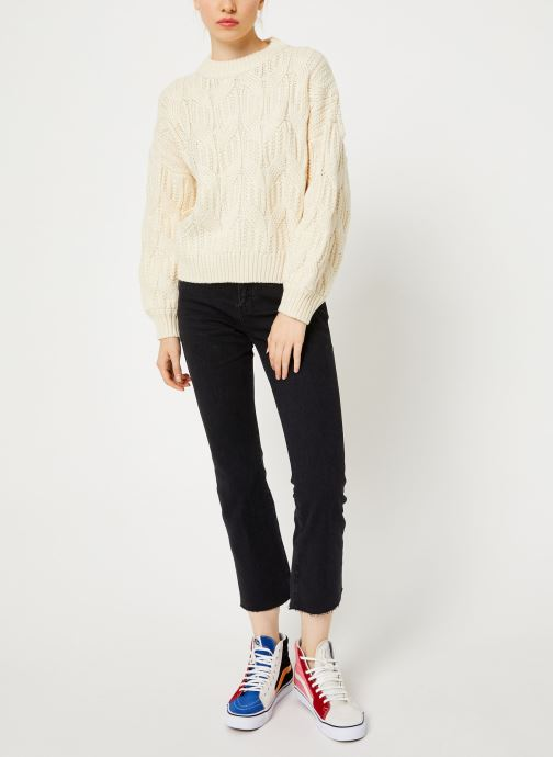 Vêtements Yuka PULL MAYLIS Blanc vue bas / vue portée sac