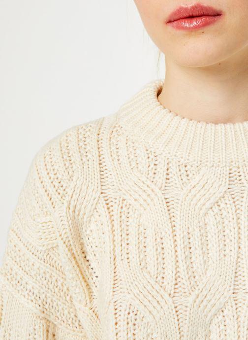 Vêtements Yuka PULL MAYLIS Blanc vue face