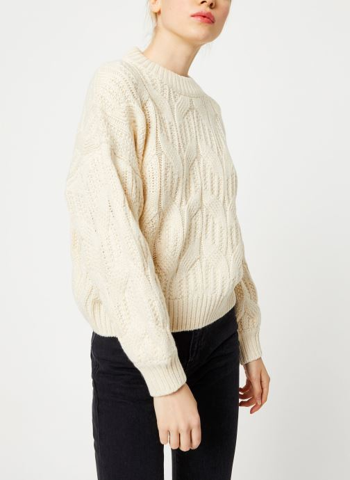 Vêtements Yuka PULL MAYLIS Blanc vue droite