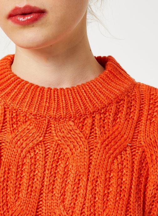 Vêtements Yuka PULL MAYLIS Orange vue face