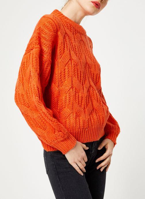 Vêtements Yuka PULL MAYLIS Orange vue droite