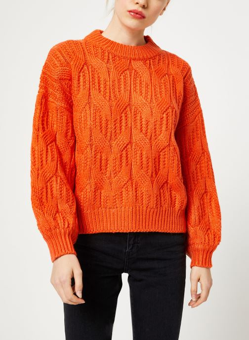 Vêtements Yuka PULL MAYLIS Orange vue détail/paire