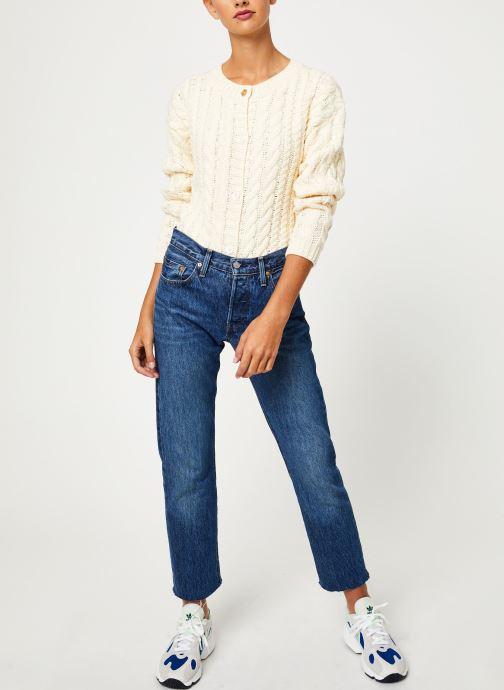 Vêtements Yuka CARDIGAN MAENA Blanc vue bas / vue portée sac
