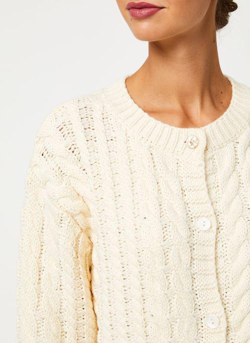 Vêtements Yuka CARDIGAN MAENA Blanc vue face