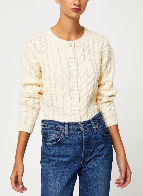 Vêtements Yuka CARDIGAN MAENA Blanc vue détail/paire