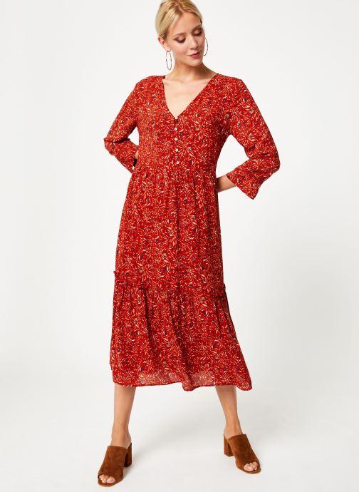Vêtements Vila Vikafina Kioma Dress Rouge vue bas / vue portée sac