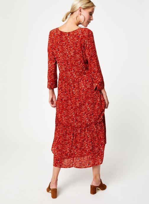 Vêtements Vila Vikafina Kioma Dress Rouge vue portées chaussures