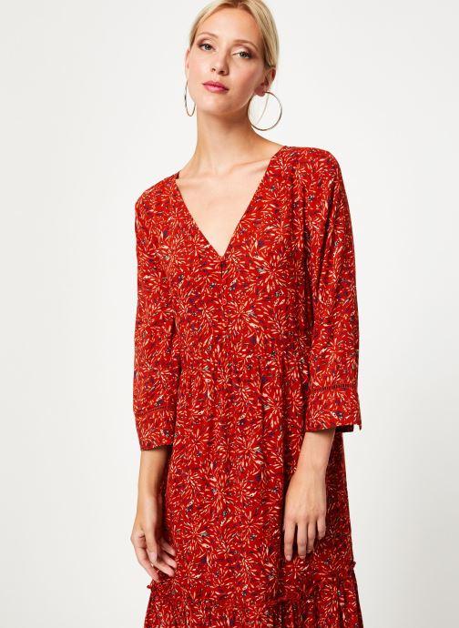 Kleding Vila Vikafina Kioma Dress Rood detail