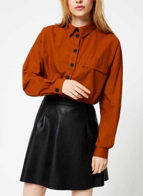 Kleding Vila Vitancy Shirt Bruin detail