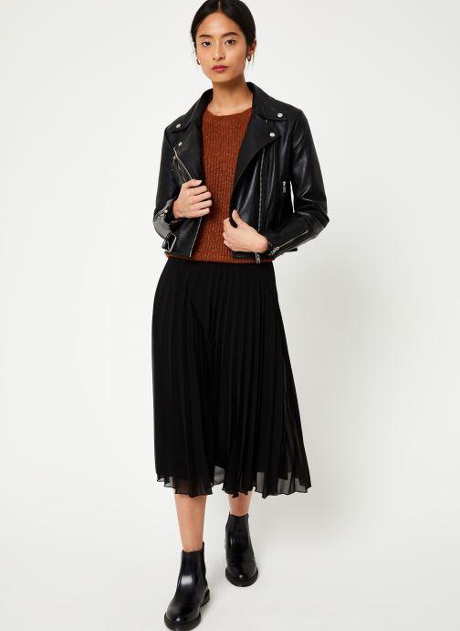 Vêtements Vila Viwillas Leather Jacket Noir vue bas / vue portée sac