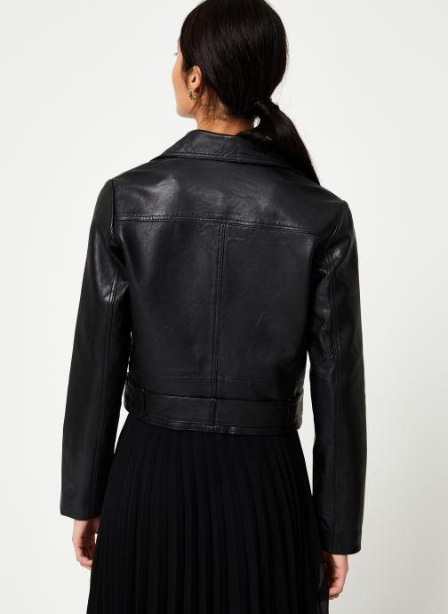 Kleding Vila Viwillas Leather Jacket Zwart model
