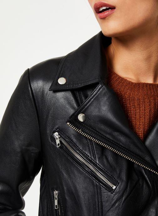 Kleding Vila Viwillas Leather Jacket Zwart voorkant