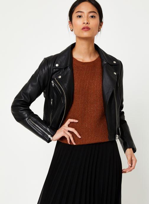 Kleding Vila Viwillas Leather Jacket Zwart rechts