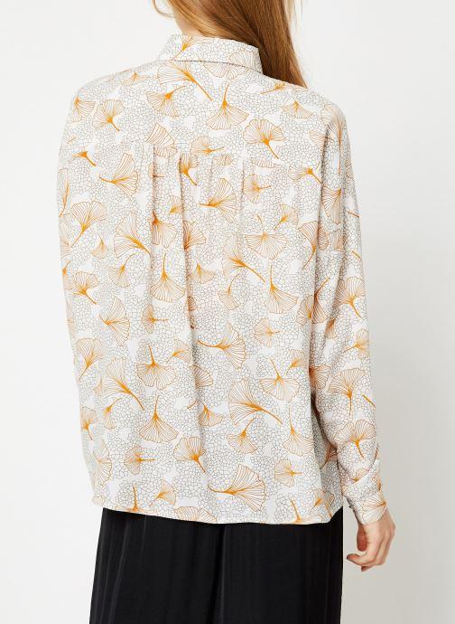 Vêtements Vila Viopening Peyton Shirt Blanc vue portées chaussures