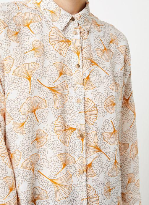 Vêtements Vila Viopening Peyton Shirt Blanc vue face