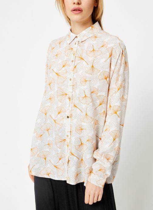 Vêtements Vila Viopening Peyton Shirt Blanc vue droite
