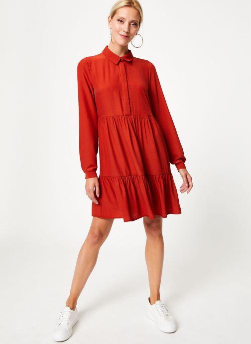 Vêtements Vila Vimoras Shirt Rouge vue bas / vue portée sac