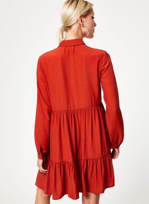 Vêtements Vila Vimoras Shirt Rouge vue portées chaussures
