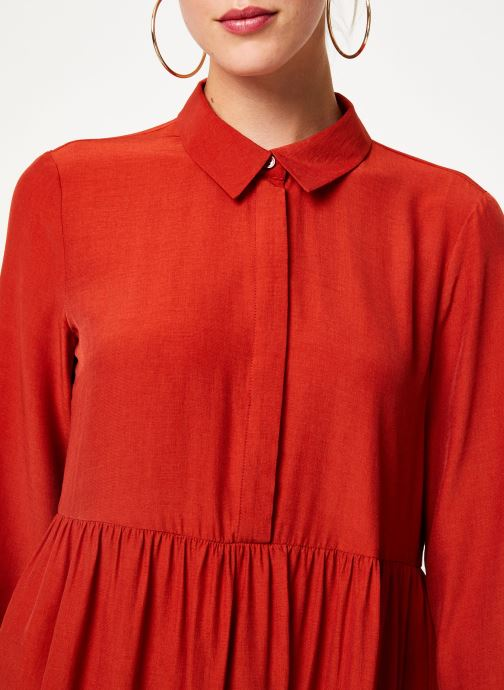 Tøj Vila Vimoras Shirt Rød se forfra