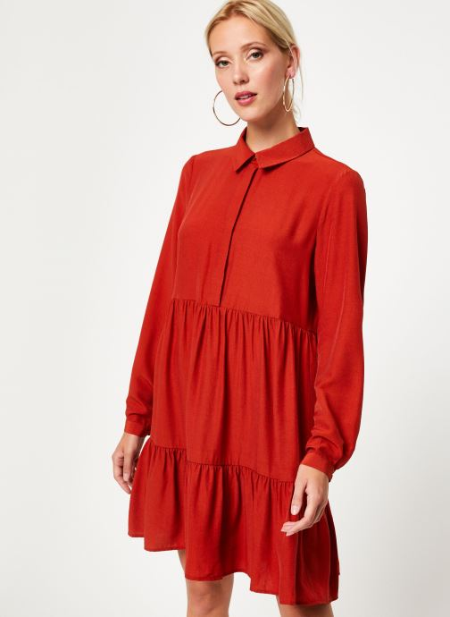 Vêtements Vila Vimoras Shirt Rouge vue droite
