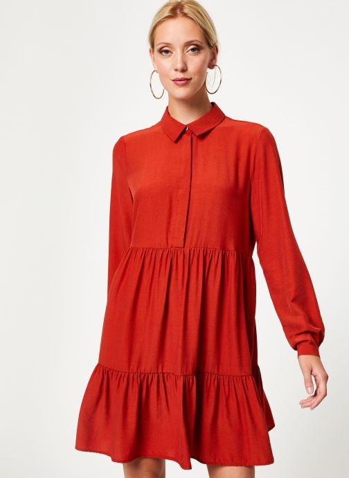Tøj Vila Vimoras Shirt Rød detaljeret billede af skoene