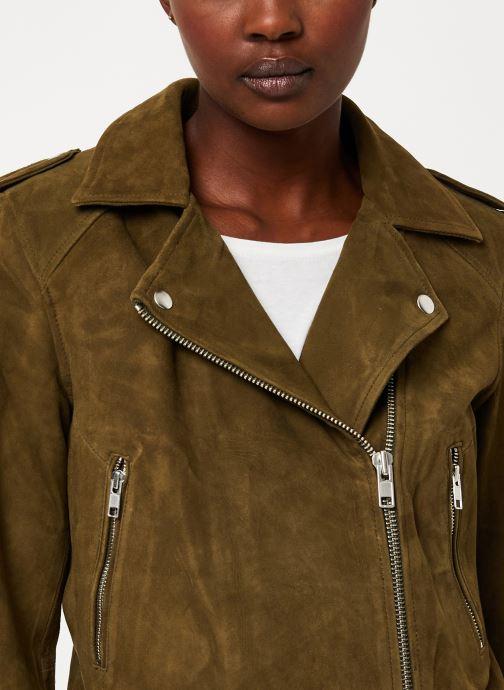 Vêtements Vila Vigwen Suede Biker Jacket Vert vue face