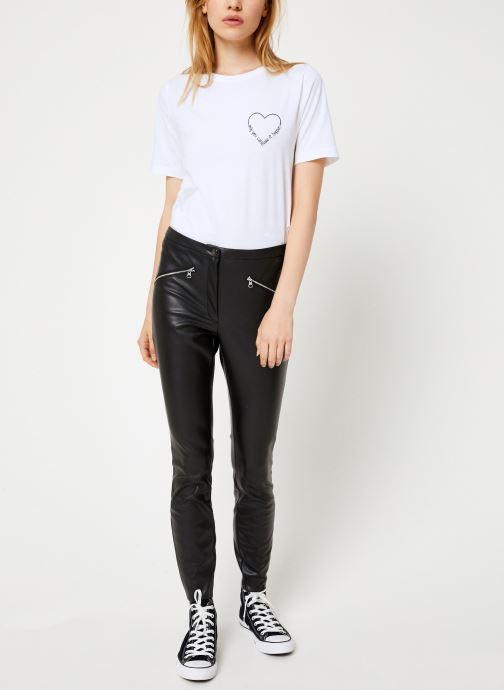 Vêtements Vila Vipen Rw Pants Noir vue bas / vue portée sac