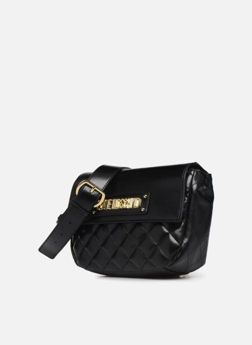 Sacs à main Love Moschino QUILTED CROSSBODY NEW Noir vue portées chaussures