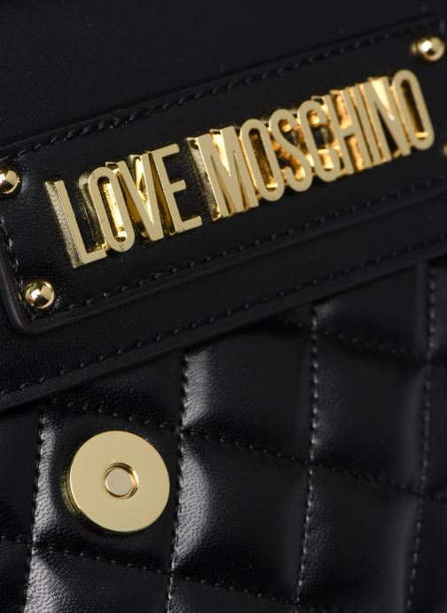 Bolsos de mano Love Moschino QUILTED CROSSBODY NEW Negro vista lateral izquierda
