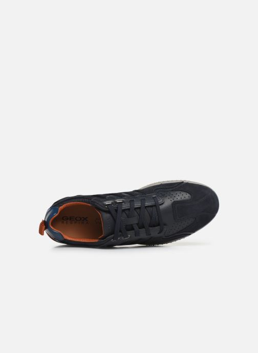 Trainers Geox U SNAKE.2 A Blue view from the left