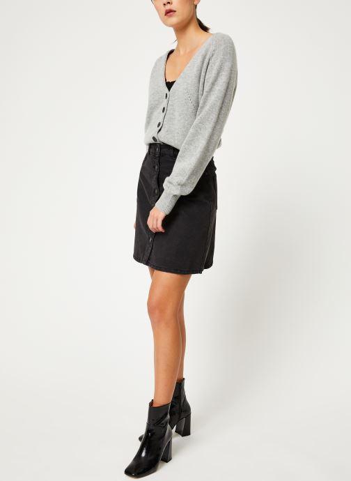 Vêtements Noisy May Denim Skirts SUNNY Noir vue bas / vue portée sac