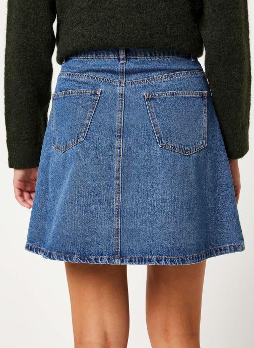 Vêtements Noisy May Denim Skirts SUNNY Bleu vue portées chaussures