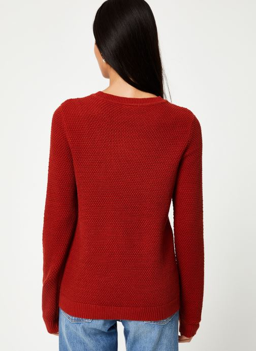 Vêtements Vila Vichassa Knit Rouge vue portées chaussures