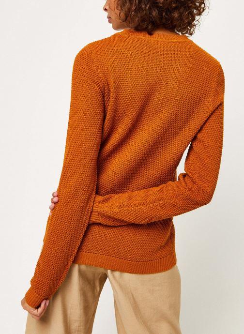 Vêtements Vila Vichassa Knit Orange vue portées chaussures