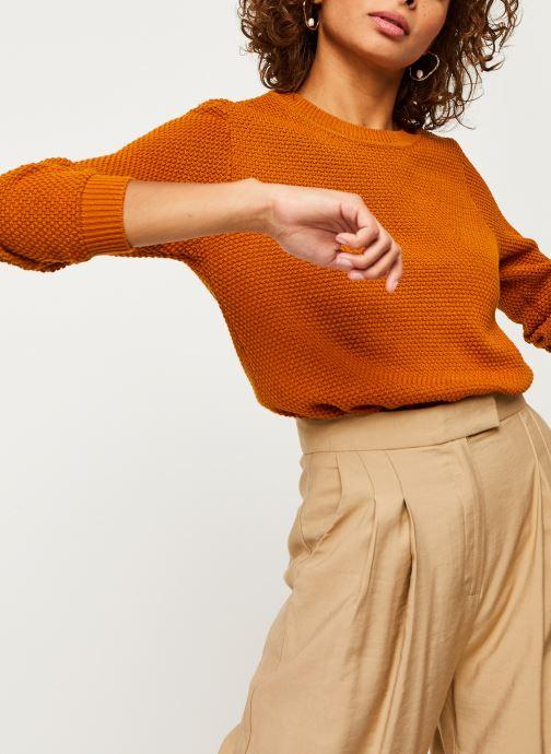 Vêtements Vila Vichassa Knit Orange vue détail/paire