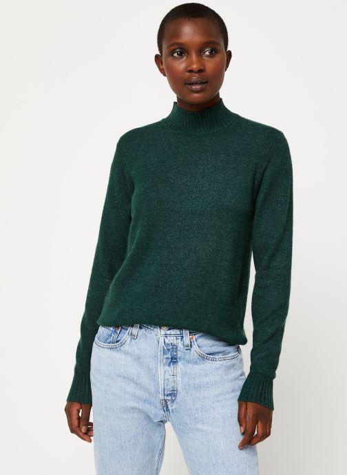 Vêtements Vila Viril Turtleneck Knit Vert vue droite