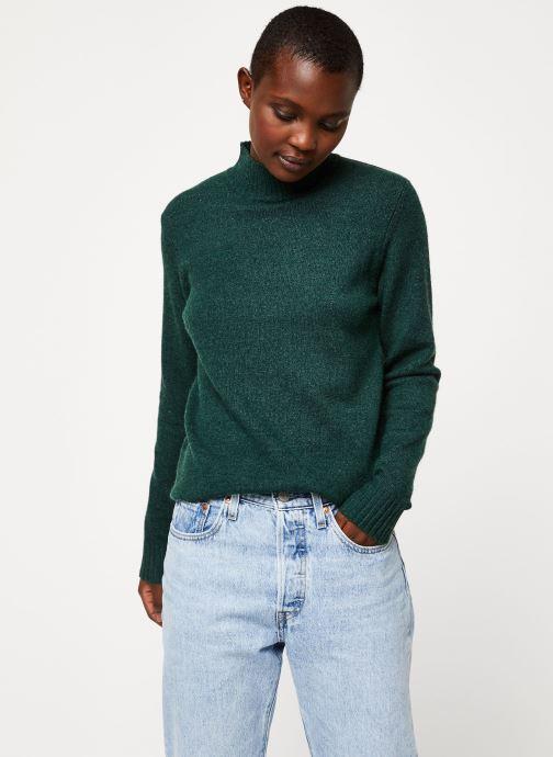 Vêtements Vila Viril Turtleneck Knit Vert vue détail/paire