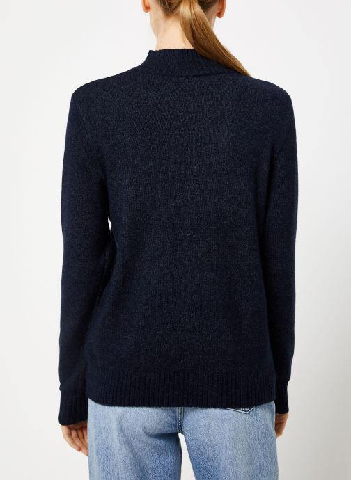 Kleding Vila Viril Turtleneck Knit Blauw model